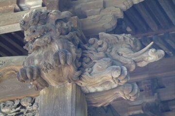 妙本寺 祖師堂の唐獅子と象の像