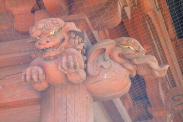 妙本寺 二天門の唐獅子と象