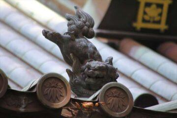 妙本寺本堂の鐙瓦