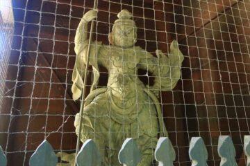 妙本寺 二天門の持国天